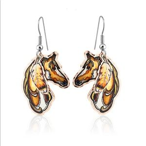 Horse earrings handmade